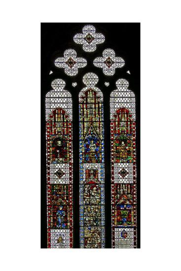 Window W32 Depicting St George, St Lawrence, St Stephen, St Cuthbert, St Peter, St Anne, St Joachim--Giclee Print
