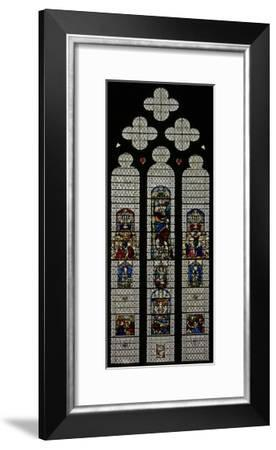 Window W36 Depicting a Composite Window of Foreign and English Panels C14 and C16--Framed Giclee Print