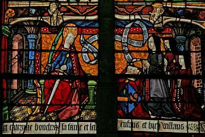 Window W4 Depicting a Donor - Catherine Boucheret with Family and St. Catherine--Giclee Print
