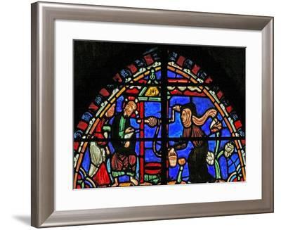Window W4 Depicting Christ and the Samaritan Woman--Framed Giclee Print