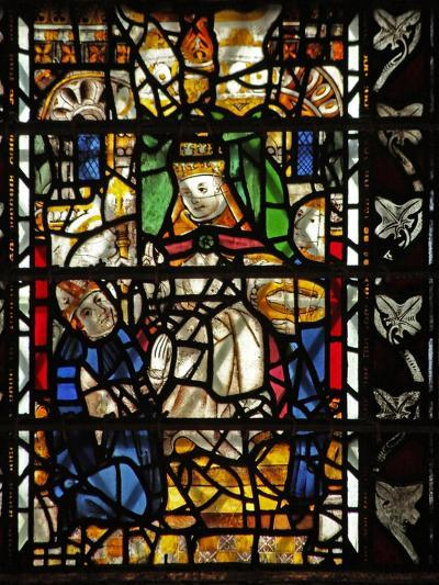 Window W58 Depicting St Thomas Becket with the Pope--Giclee Print