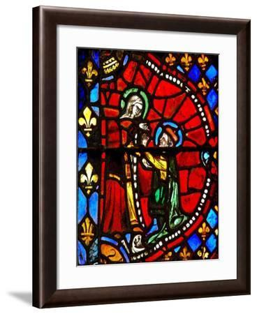 Window W6 Depicting a Scene from the Life of the Virgin Mary: Joseph Asks the Virgin Mary's Pardon--Framed Giclee Print