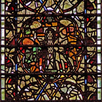 Window W60 Depicting St Paul Is Lowered in a Basket--Giclee Print
