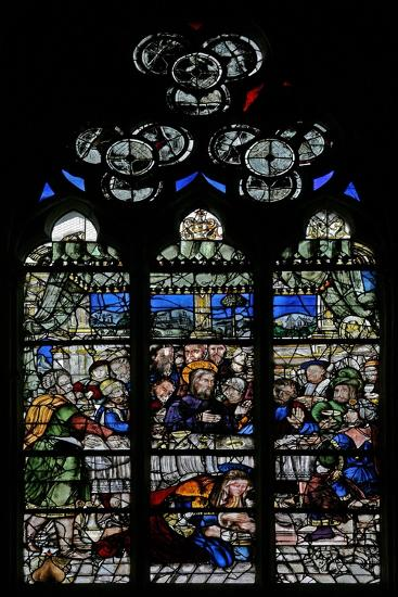 Window W9 Depicting the Events at Simon's House: Mary Magdalene Washes Christ's Feet--Giclee Print