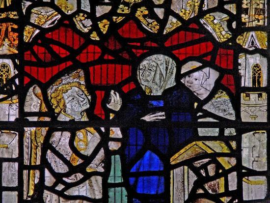 Window Ww Depicting a Resurrection Scene: the Holy Women at the Tomb--Giclee Print