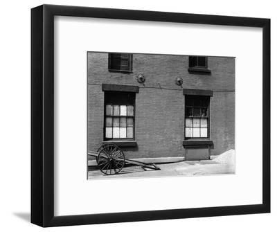 Windows and Cart, New York, 1943-Brett Weston-Framed Photographic Print