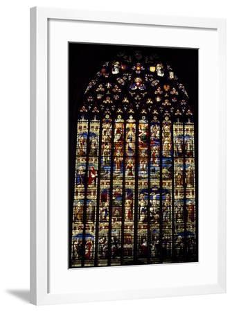 Windows from St Rumbold's Cathedral, Mechelen, Detail, Belgium--Framed Giclee Print