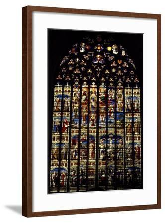 Windows from St Rumbold's Cathedral, Mechelen, Detail, Belgium--Framed Giclee Print