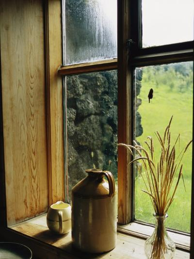 Windowsill of the Skogar Folk Museum in the Southern Part of Iceland-Sisse Brimberg-Photographic Print