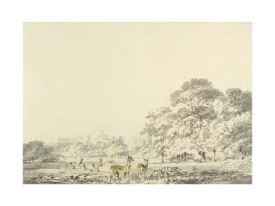 Windsor Castle and Park with Deer-J^ M^ W^ Turner-Giclee Print