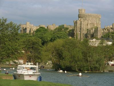 Windsor Castle and River Thames, Berkshire, England, United Kingdom, Europe-Woolfitt Adam-Photographic Print