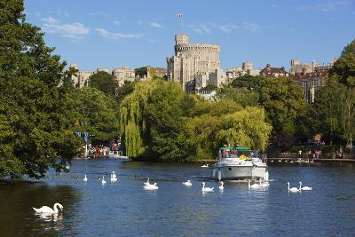 Windsor Castle and River Thames, Windsor, Berkshire, England, United Kingdom, Europe-Stuart Black-Photographic Print