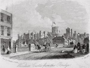 Windsor Castle, Berkshire, from the Bridge, 1860