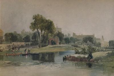 Windsor Castle from the Eton Play Ground, c1838-James Baker Pyne-Giclee Print
