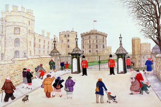 Windsor Castle Hill-Gillian Lawson-Giclee Print