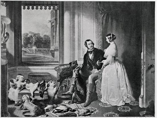 Windsor Castle in Modern Times, from the Painting of 1843-Edwin Henry Landseer-Giclee Print