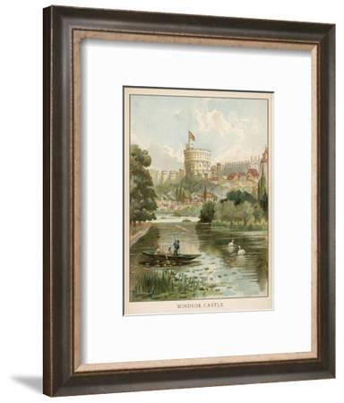 Windsor Castle, Seen across the River--Framed Giclee Print
