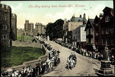 Windsor South East,The King Driving Down Castle Hill--Giclee Print
