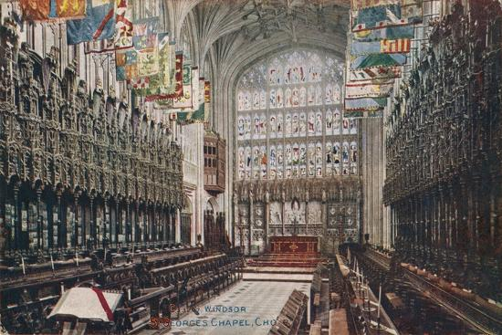 'Windsor, St. George's Chapel, Choir' c1916-Unknown-Giclee Print