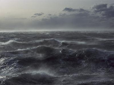 Windstorm over Ocean in Beagle Channel, Tierra Del Fuego, Argentina-Colin Monteath/Minden Pictures-Photographic Print