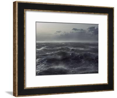 Windstorm over Ocean in Beagle Channel, Tierra Del Fuego, Argentina-Colin Monteath/Minden Pictures-Framed Photographic Print