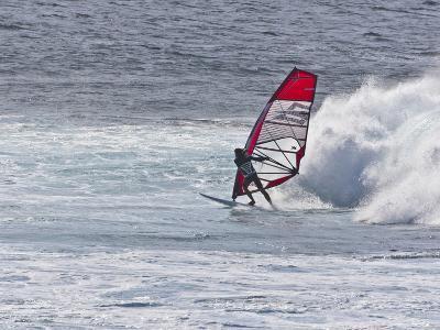 Windsurfer, Hookipa Beach Park, Maui, Hawaii, USA-Cathy & Gordon Illg-Photographic Print