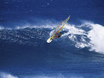 Windsurfer Surfing--Photographic Print