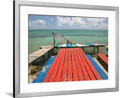 Windsurfers on Caravelle Beach, Grande Terre, Guadaloupe, Caribbean-Walter Bibikow-Framed Photographic Print