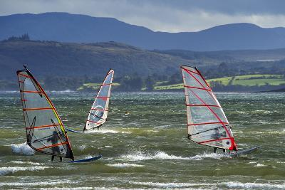 Windsurfing at Downings Sheephaven Bay, Donegal, Ireland-Chris Hill-Photographic Print