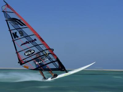 Windsurfing at Speed, Red Sea, Egypt, North Africa, Africa-Dominic Harcourt-webster-Photographic Print