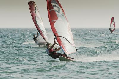 Windsurfing; Tarifa Cadiz Andalusia Spain-Design Pics Inc-Photographic Print