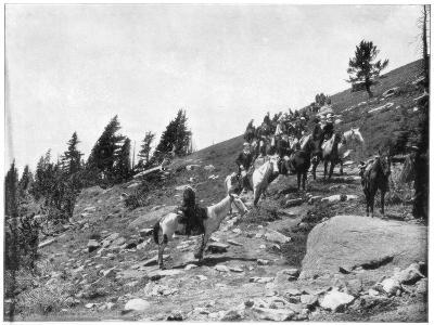 Windy Point, Pike's Peak, Colorado, Late 19th Century-John L Stoddard-Giclee Print