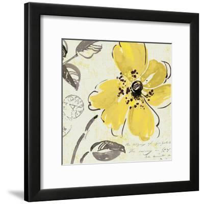 Windy Yellow I--Framed Art Print