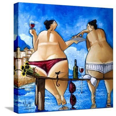 Wine and Cake-Ronald West-Stretched Canvas Print