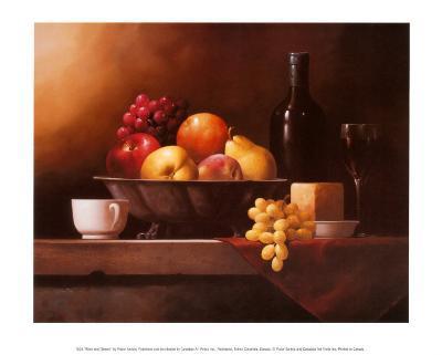 Wine and Cheese-Victor Santos-Art Print