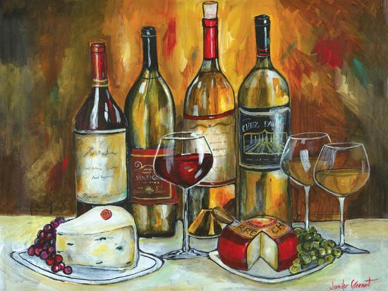 Wine and Cheese-Jennifer Garant-Giclee Print