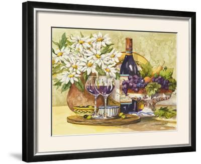 Wine and Daisies-Jerianne Van Dijk-Framed Photographic Print