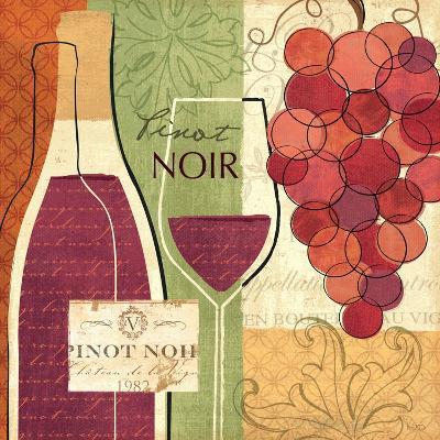 Wine and Grapes I-Veronique Charron-Art Print