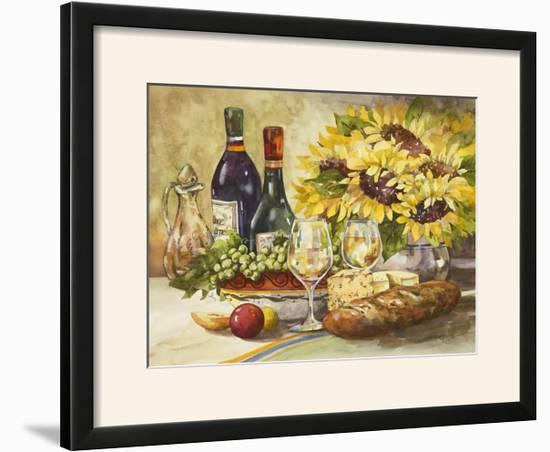 Wine and Sunflowers-Jerianne Van Dijk-Framed Photographic Print