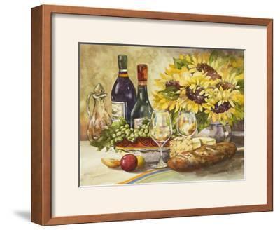 Wine and Sunflowers-Jerianne Van Dijk-Framed Photographic Print
