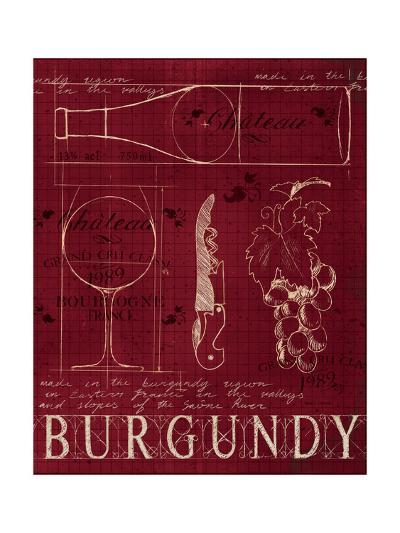 Wine Blueprint I v2-Marco Fabiano-Art Print