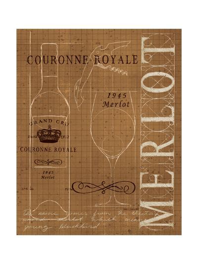 Wine Blueprint II Sepia-Marco Fabiano-Art Print