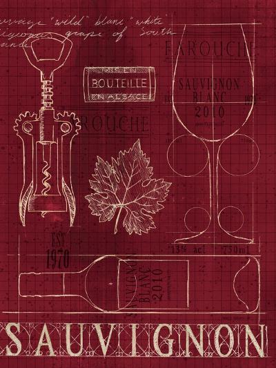 Wine Blueprint IV v-Marco Fabiano-Art Print