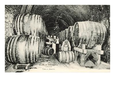 Wine Casks in Storage, Moet et Chandon--Art Print