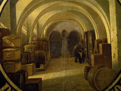 Wine Cellar with Wine Barrels--Giclee Print