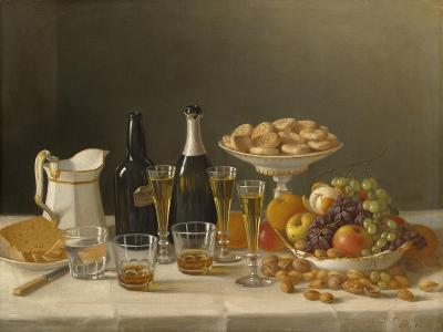 Wine, Cheese, and Fruit, 1857-John F^ Francis-Giclee Print