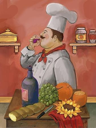 Wine Chef Master-Frank Harris-Giclee Print