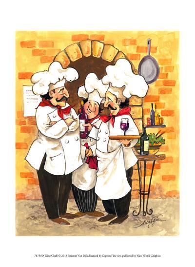 Wine Chefs-Jerianne Van Dijk-Art Print
