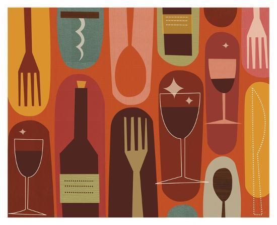 Wine & Dine-Jenn Ski-Art Print