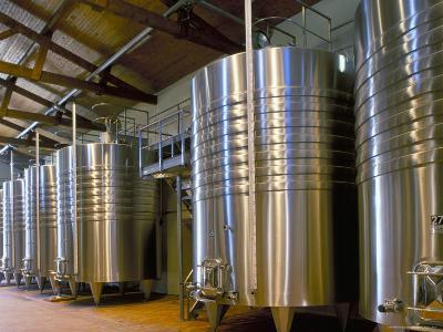 Wine Fermentation Tanks, Chateau Comtesse De Lalande, Pauillac, Gironde, France-Michael Busselle-Photographic Print